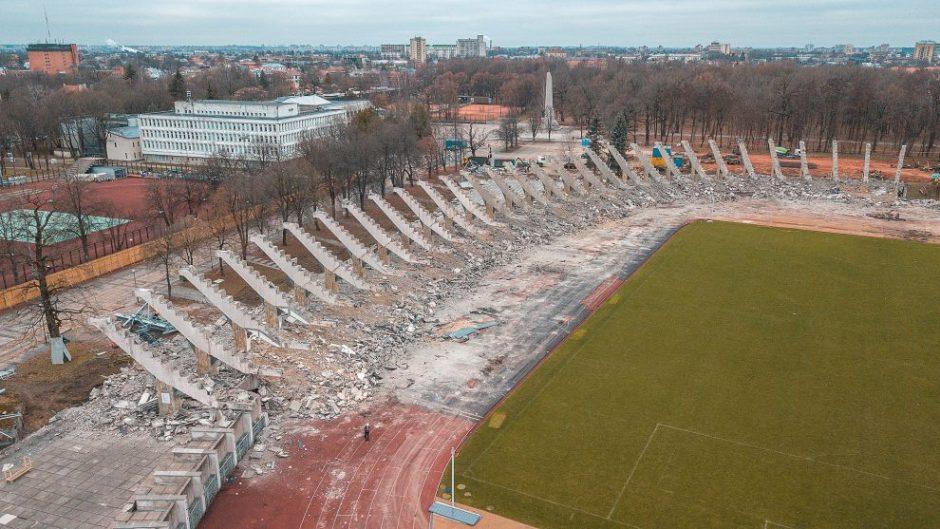 Kauno stadiono rekonstrukcija: užbaigtas svarbus etapas
