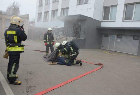 Savivaldybės pastate imituotas gaisras