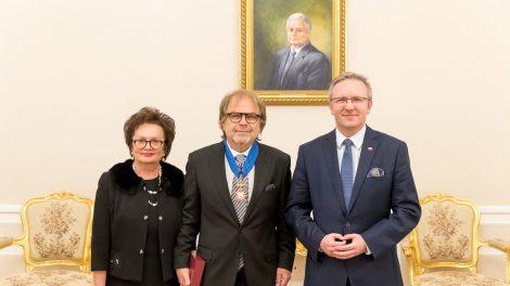 Lietuvos ambasadoriui įteiktas Lenkijos valstybės apdovanojimas
