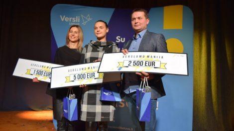 """Išrinkti ir apdovanoti konkurso """"Verslumo manija"""" nugalėtojai!"""