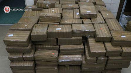 Policija sulaikė rekordinį kvaišalų kiekį – 1,5 tonos hašišo (video)