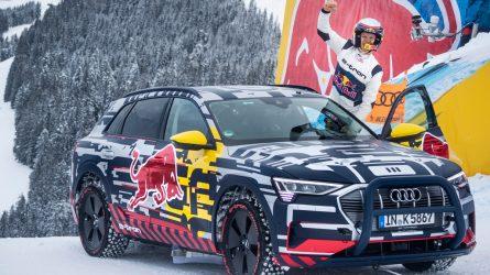 """Audi e-tron"": legendinėje ""Streif"" trasoje išbandytas ypatingas elektromobilis"