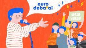 Moksleiviai Eurodebatuose dalinsis patarimais, kaip balsuoti ne tik kojomis, bet ir galva