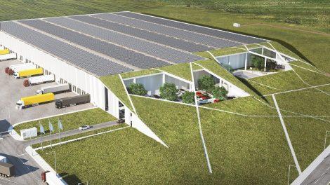 Aplinkai draugiškas SBA grupės logistikos centras stebins išskirtine architektūra