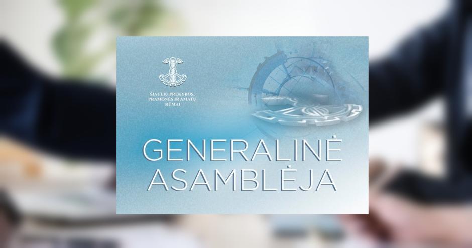 Šiaulių prekybos, pramonės ir amatų rūmų Generalinė asamblėja, visuotinis Rūmų narių atstovų susirinkimas