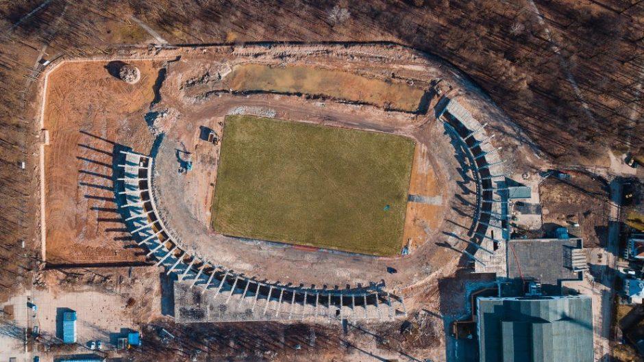 Kauno stadiono statybos: griovimo darbai baigti, statybininkai jungia aukštesnę pavarą