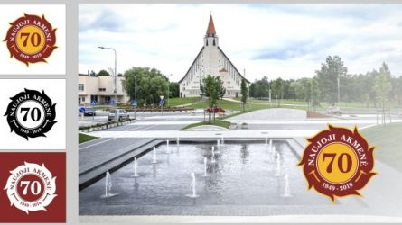 Išrinktas logotipas, skirtas Naujosios Akmenės miesto 70-mečiui