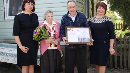 Pasveikinta 11 vaikų užauginusi Teresė Genčienė