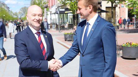 Šiauliuose viešėjo Airijos ambasadorius