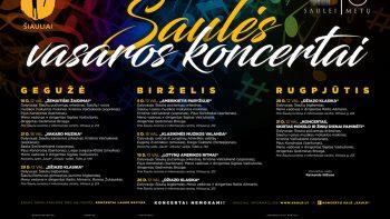Saulės vasaros koncertai - 2019 PROGRAMA