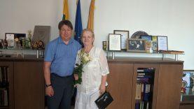 Sveikinimai jubiliejaus proga visuomenininkei Klavdijai Pušinovai