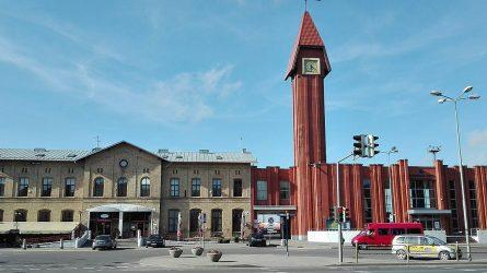 Klaipėdos traukinių stoties tualetą okupavo benamiai