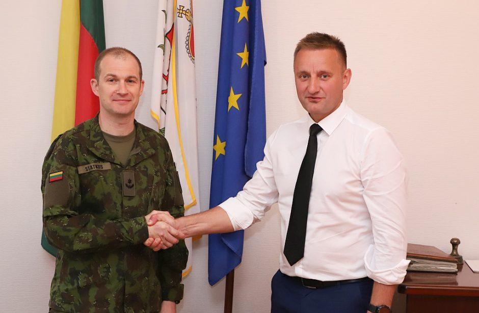 Šiaulių miesto ir kariuomenės atstovai aptarė tolimesnį bendradarbiavimą