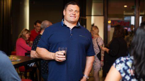 Stipruolis Žydrūnas Savickas Lietuvos vyrų rinktinę palaikė Šiauliuose