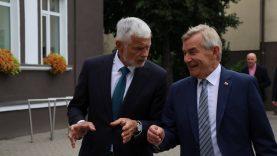 Klaipėdos rajone lankėsi Seimo Pirmininkas Viktoras Pranckietis