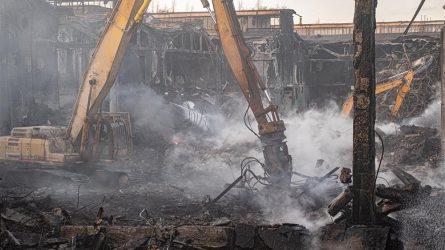 Dėl gaisro metu susidariusių atliekų išvežimo bus kreipiamasi į Aplinkos apsaugos departamentą