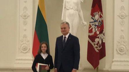 Tarp nugalėtojų – Židikų Marijos Pečkauskaitės gimnazijos moksleivė