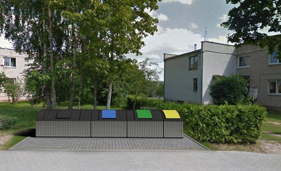 Pusiau požeminių konteinerių aikštelių įrengimo Mažeikių rajono savivaldybės teritorijoje projektinių pasiūlymų svarstymas su visuomene