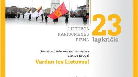 Krašto apsaugos ministras sveikina Lietuvos kariuomenės dienos proga