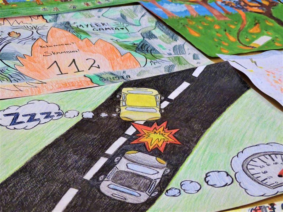 13-os mokinių piešiniai papuoš civilinės saugos 2020 metų kalendorių