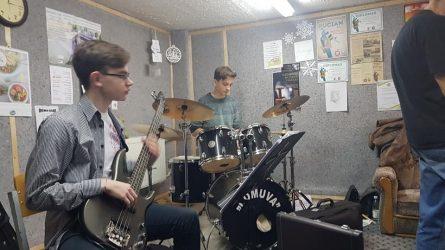Šiaulių meras lankėsi Metų mokytojo repeticijoje