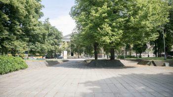 Atnaujinus projektą, Reformatų sode tęsiami tvarkymo darbai