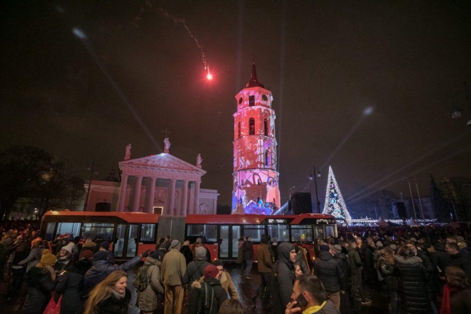 Naujųjų metų naktį viešuoju transportu keliausime nemokamai
