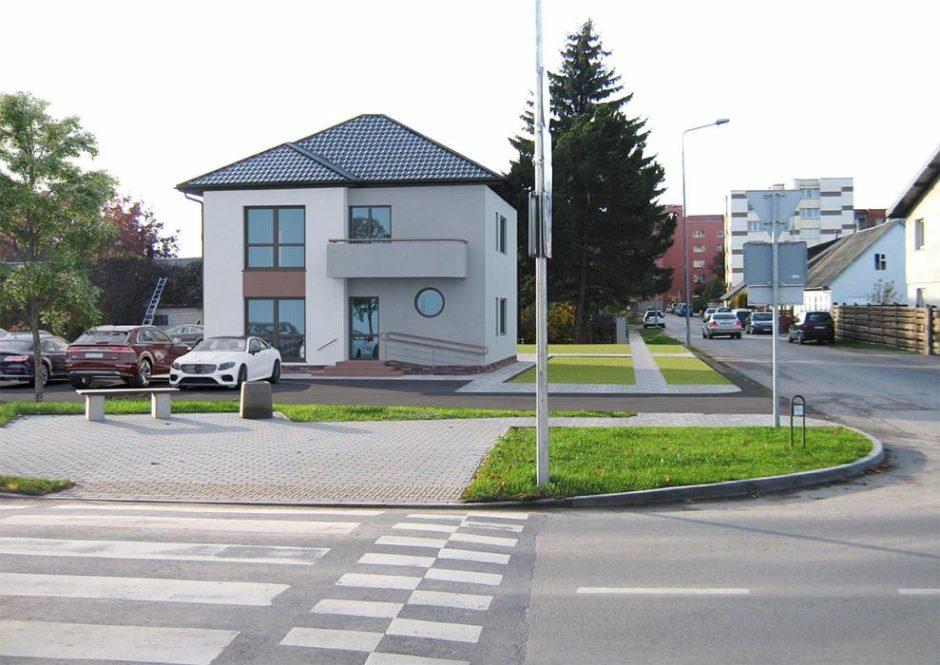 Gyvenamojo namo paskirties keitimo į paslaugų Mažeikiuose projektinių pasiūlymų svarstymas su visuomene