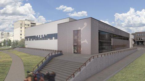 Prasidėjo 3 krepšinio salių komplekso statybos Vilniuje