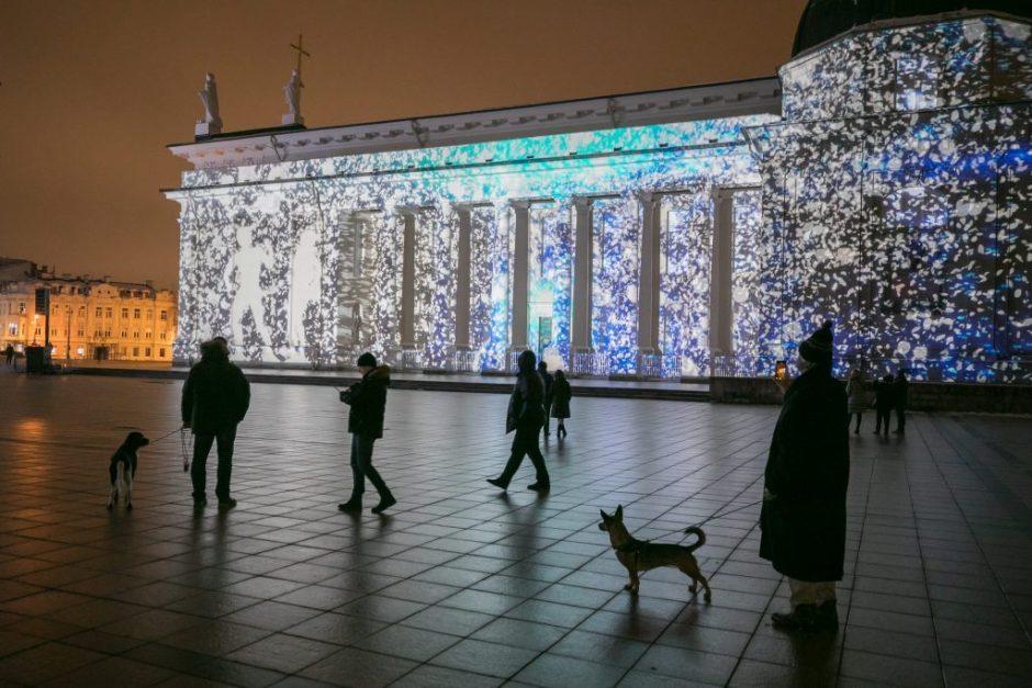 Nauja 3D pasaka ant Vilniaus katedros – jau Šv. Kalėdų vakarą