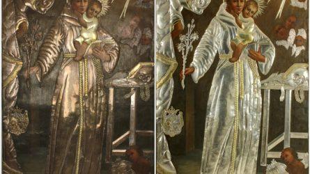 Stebuklais garsėjantis Šv. Antano Paduviečio paveikslas restauruotas ir grąžintas Telšių katedrai