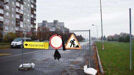 Bus uždarytas eismas Pavenčių gatvėje