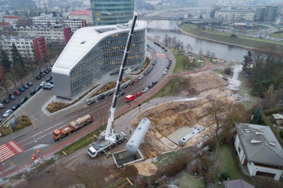 """""""Grinda"""" stato modernią požeminę lietaus nuotekų valyklą Upės gatvėje"""