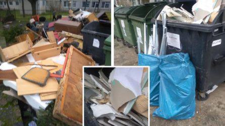 Už netinkamai išmestas statybines atliekas – administracinė atsakomybė
