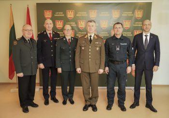 Aptartas ir įtvirtintas bendradarbiavimas su Lietuvos kariuomene