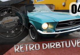 1967 metų Ford Mustang Cabrio defektai, restauracija ir ardymas smėliavimui