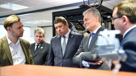 Šalies Prezidentas susipažino su Nacionalinio kibernetinio saugumo centro padalinio Kaune veikla