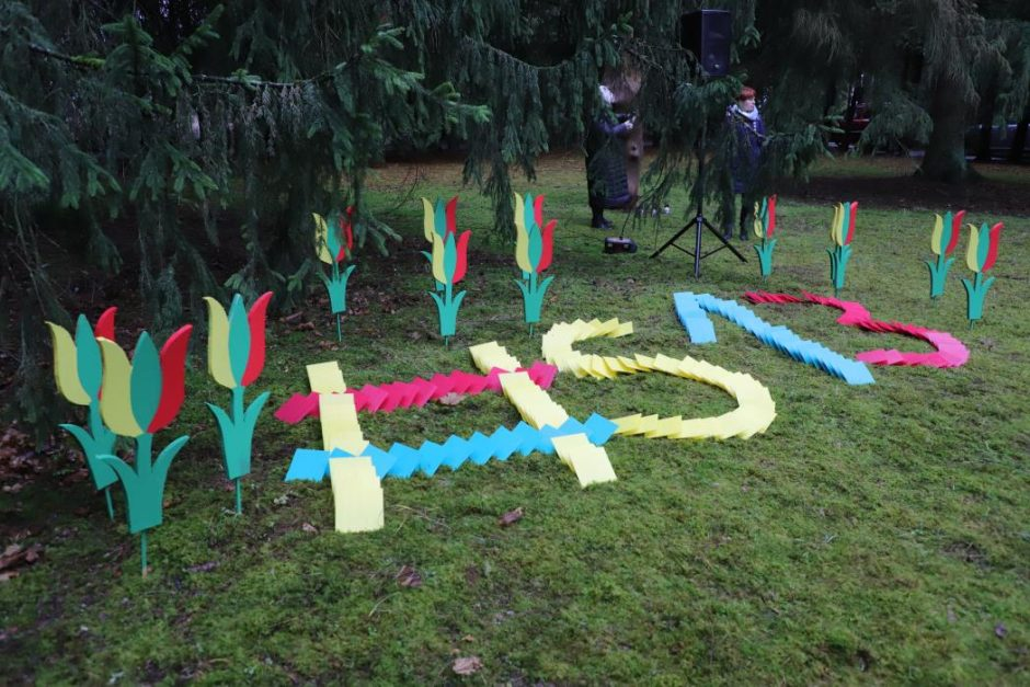 Sausio 13-oji Kauno rajone – su dainomis ir plazdančiomis trispalvėmis