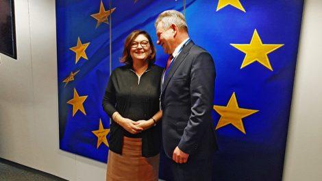 """Su EK transporto komisare susitikęs susisiekimo ministras: """"Rail Baltica"""" – visam Baltijos regionui svarbus europinis projektas"""
