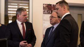 Susisiekimo ministras Klaipėdoje skatino suvienyti jėgas dėl pašto pastato prikėlimo