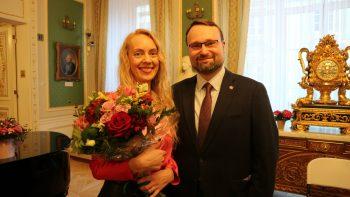 Kultūros ministras: Lauros Laurušaitės dėka cirkuliuoja literatūros gyvybė tarp Lietuvos ir Latvijos