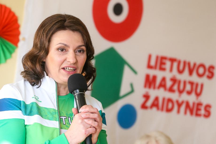Lietuvos mažųjų žaidynių starte – pirmosios ponios Dianos Nausėdienės vizitas