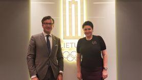 Tokijo olimpines žaidynes LTOK atstovai aptarė su Lietuvos ambasadoriumi Japonijoje G. Varvuoliu