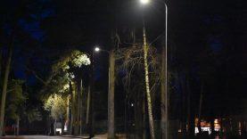 Varėnos mieste apšviestos Geležinkelio ir Parko gatvės