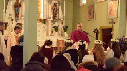 Leckavos parapiją vizitavo naujai paskirtas Kauno arkivyskupas metropolitas