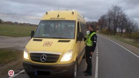 Policijos pareigūnai, vykdantys eismo priežiūrą, tikrino autobusus ir krovininius automobilius