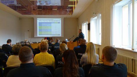 Savivaldybėje pristatyta aktuali informacija apie policijos darbą Skuodo rajone ir bendrai visoje Klaipėdos apskrityje