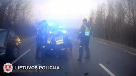 """Vietoje raugintų kopūstų pagirioms – dygliuotas policijos """"ežys"""" (video)"""