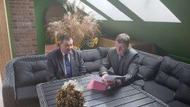 Meras Vitalijus Gailius susitiko su Jelgavos savivaldybės meru
