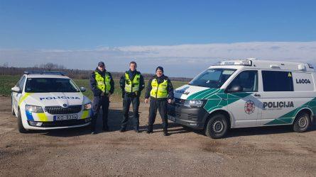 Klaipėdos apskrities ir Latvijos Kuržemės pareigūnai tvarką pasienyje prižiūri kartu